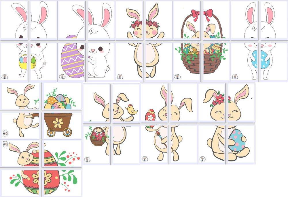 Dekoracje XXL: Zajączek wielkanocny (10 szablonów) Dekoracje Dekoracje (Wielkanoc) Wielkanoc