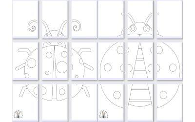Kolorowanki XXL: Biedronki (10 szablonów)
