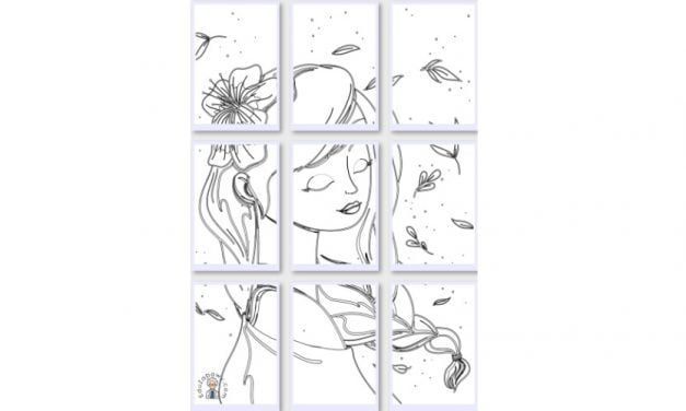 Kolorowanki XXL: Pani Wiosna (10 szablonów)