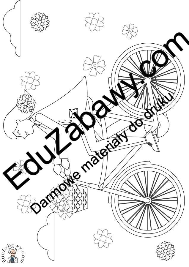 Kolorowanki: Pani Wiosna na rowerze (8 szablonów) Kolorowanki Kolorowanki (Dzień Kobiet) Kolorowanki (Wiosna) Wiosna