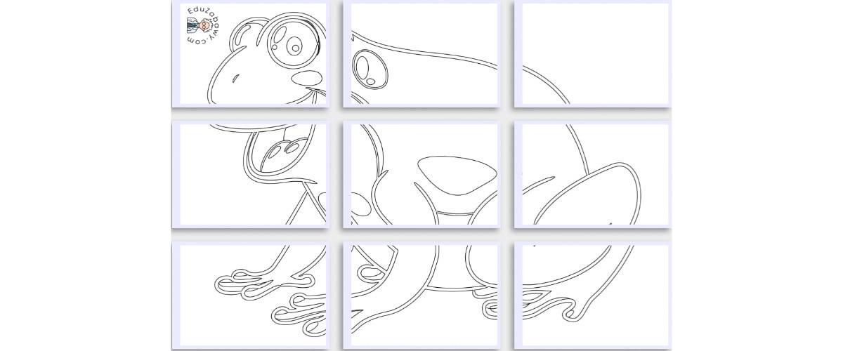 Kolorowanki XXL: Żaby (10 szablonów)