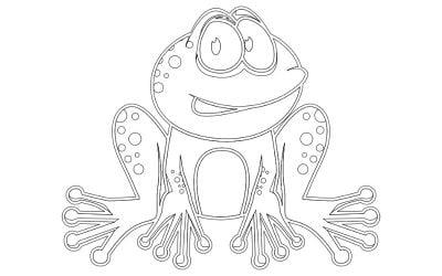 Kolorowanki: Żaby (10 szablonów)