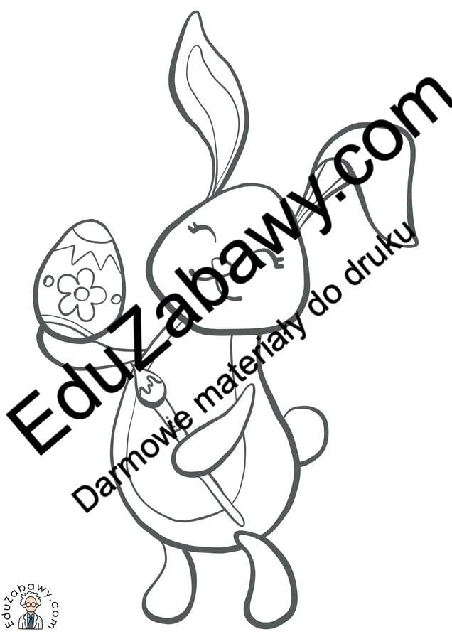 Kolorowanki: Zajączek wielkanocny (10 szablonów) Kolorowanki Kolorowanki (Wielkanoc) Okolicznościowe (Kolorowanki) Wielkanoc